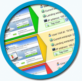 realtime visitor tracking dashboard screenshot