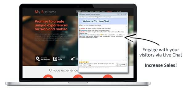 Increase sales with live chat software